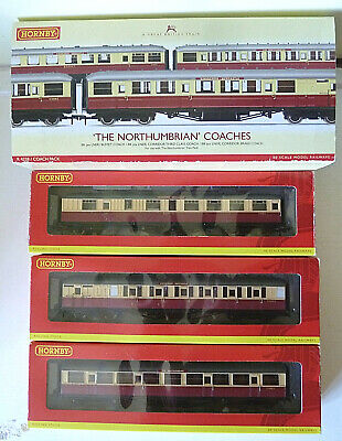 Hornby R4228: 'The Northumbrian' 3-coach pack, all boxed, in excellent used cond