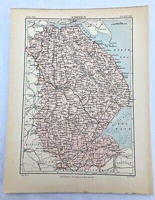 circa 1880s map of lincoln  ( adam & charles black )