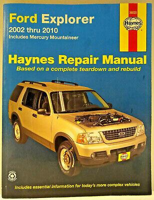 Haynes 36025 - Ford Explorer, Mercury, Mountaineer Repair Manual2002-2010 2002 Mercury Mountaineer Manual
