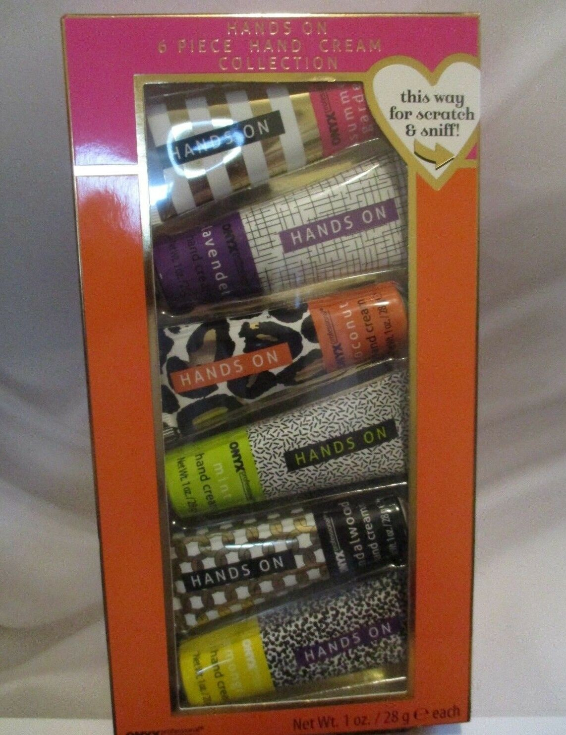 ONYX PROFESSIONAL Hands On 6 PIECE Hand Cream Collection Gif