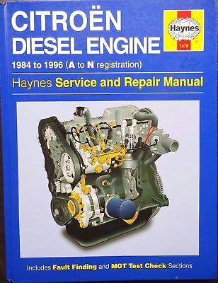 1379 Citroen Diesel Engine 1984 - 1996 Haynes Service and Repair Manual