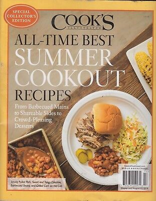 Cook's Illustrated All-Time Best Summer Cookout Recipes 2018 Special