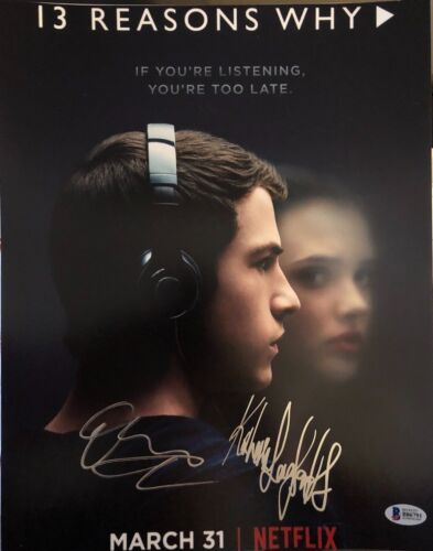 CAST SIGNED 11X14 PHOTO 13 REASONS WHY BECKETT AUTOGRAPH AUTO LANGFORD MINNETTE