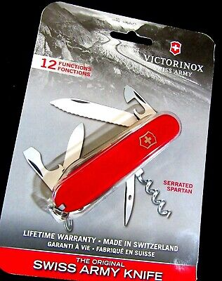 Victorinox Swiss Army red Serrated Spartan - 12 function knife