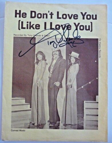 Tony Orlando Signed Autographed He Don't Love You Sheet Music PSA BAS Guaranteed
