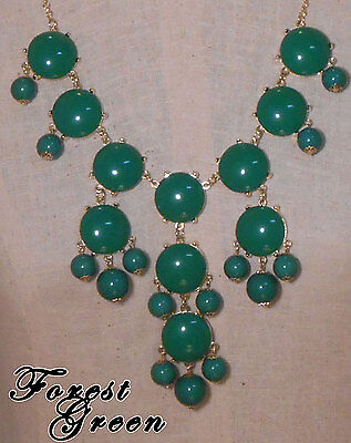 Bubble Statement Necklace FOREST GREEN receive 3-5 days FREE Shipping USA - Bubble Necklaces