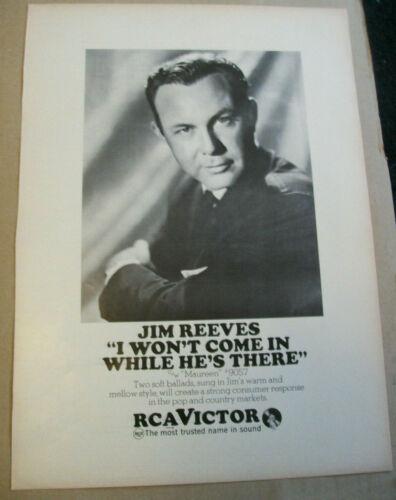 Jim Reeves 1967 Ad- I Won