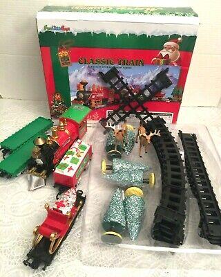 Fun Little Toys Train Set Classic Battery Operated Orbit Series Christmas 30 Pcs