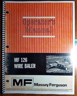 Massey Ferguson Mf 126 Mf126 Wire Baler Owner Operators Manual 1448 203 M2 772