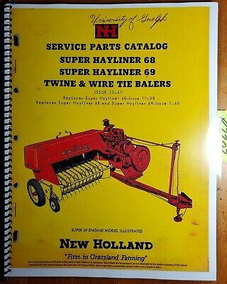 New Holland Super 68 69 Hayliner Twine Wire Tie Baler Service Parts Manual