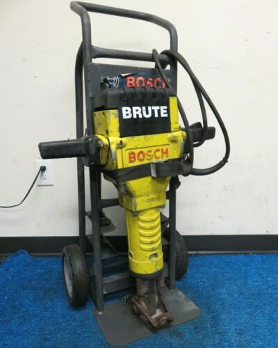 Bosch Brute Electric Demolition Jackhammer with Cart and 3 Chisels