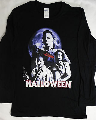 Michael Myers Halloween Horror Movie Dr. Loomis Laurie Long Sleeve Shirt T-shirt](Halloween Movie Dr Loomis)