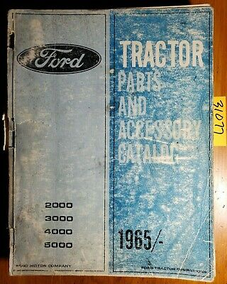Ford 2000 3000 4000 5000 Tractor Acc 1965- Parts Catalog Manual Pa-9125 1167