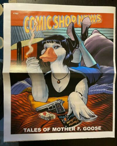 COMIC SHOP NEWS #1782 2021, TALES OF MOTHER F. GOOSE, PULP FICTION HOMAGE COVER