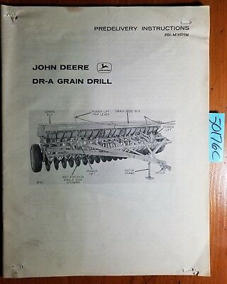John Deere Dr-a Grain Drill Predelivery Instructions Manual Pdi-m16939m A5 165