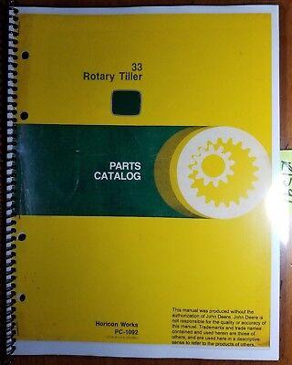 John Deere 33 Rotary Tiller Parts Catalog Manual Pc-1092 1079