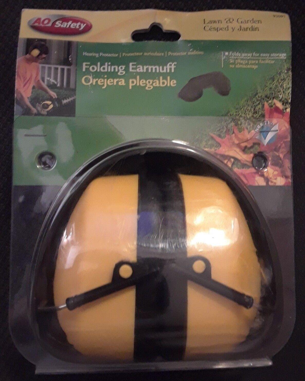 AOSafety Folding Yellow Earmuff Headset Hearing Protector Ea