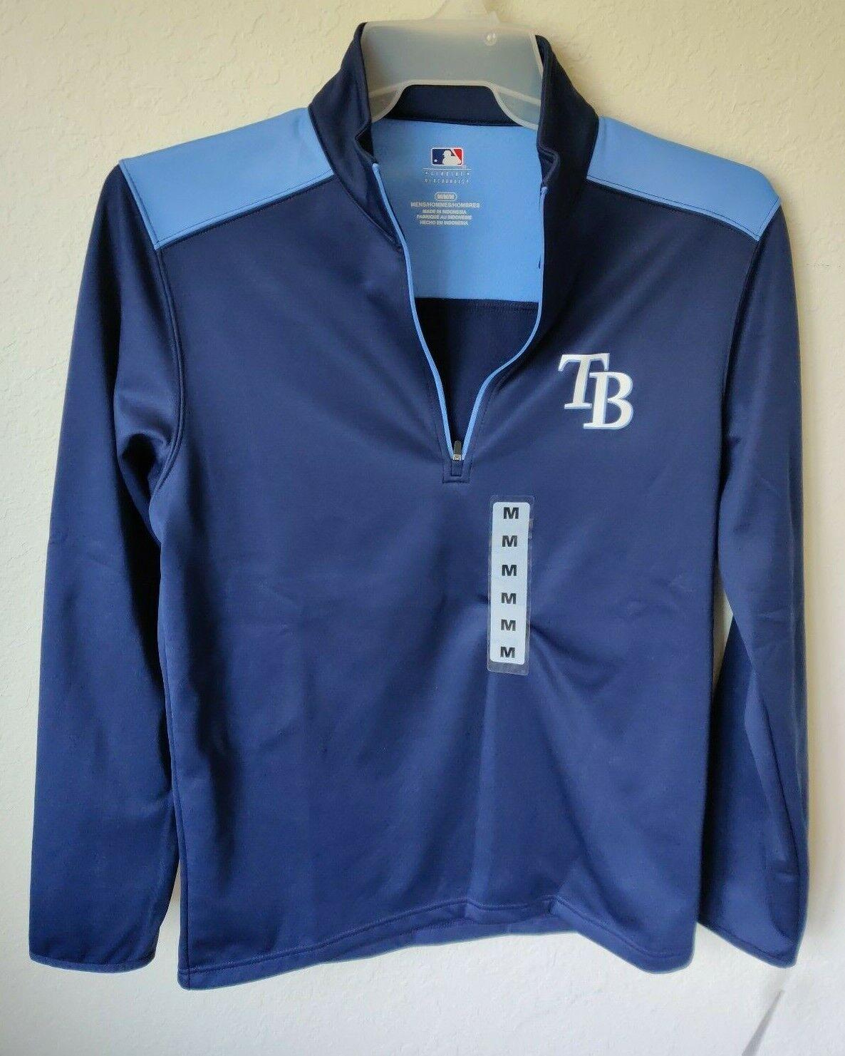 MLB Tampa Bay Rays 1/4-Zip Fleece Lined Unisex/Men's  Pullov