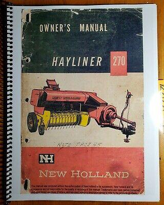 New Holland 270 Hayliner Baler Owners Operators Manual O270-2-7.5m 163