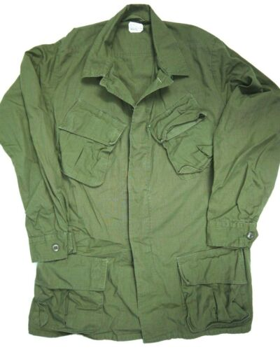 Vintage 60s Jungle Jacket 3rd Pattern Military Army Combat Vietnam Era OG-107 M