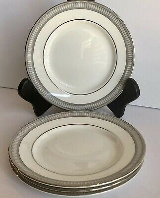 NEW Set of 4 Waterford CARINA PLATINUM Bread & Butter Plates 6