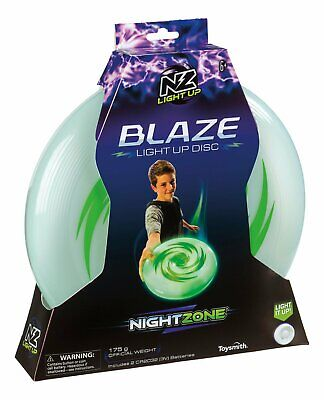 Light Up Frisbee Disc Bright LED Glow Play Toy Game Outdoor Throwing Night Day