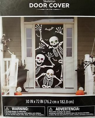 Skeleton Door Cover Photo Wall prop party Dorm Office Home Decoration Halloween