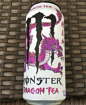 MONSTER DRAGON TEA WHITE TEA ENERGY DRINK 15.5 FL OZ FULL CAN UNLEASH DRAGON