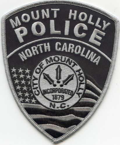 MOUNT HOLLY NORTH CAROLINA NC subdued POLICE PATCH