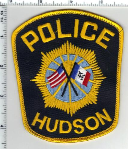 Hudson Police (Iowa) Shoulder Patch - new from the 1980