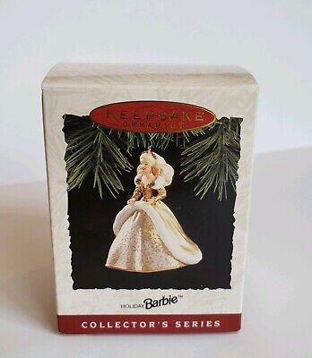 Keepsake Ornament Holiday Barbie Collectors Christmas 1994 Vintage