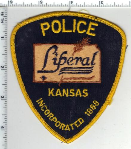 Liberal Police (Kansas) Uniform Take-Off Shoulder Patch - from the 1980