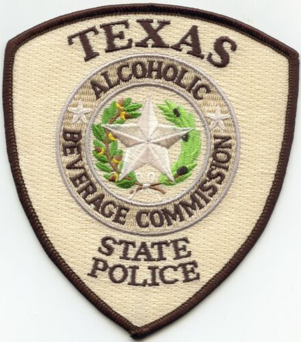TEXAS TX STATE POLICE Alcoholic Beverage Commission ABC POLICE PATCH
