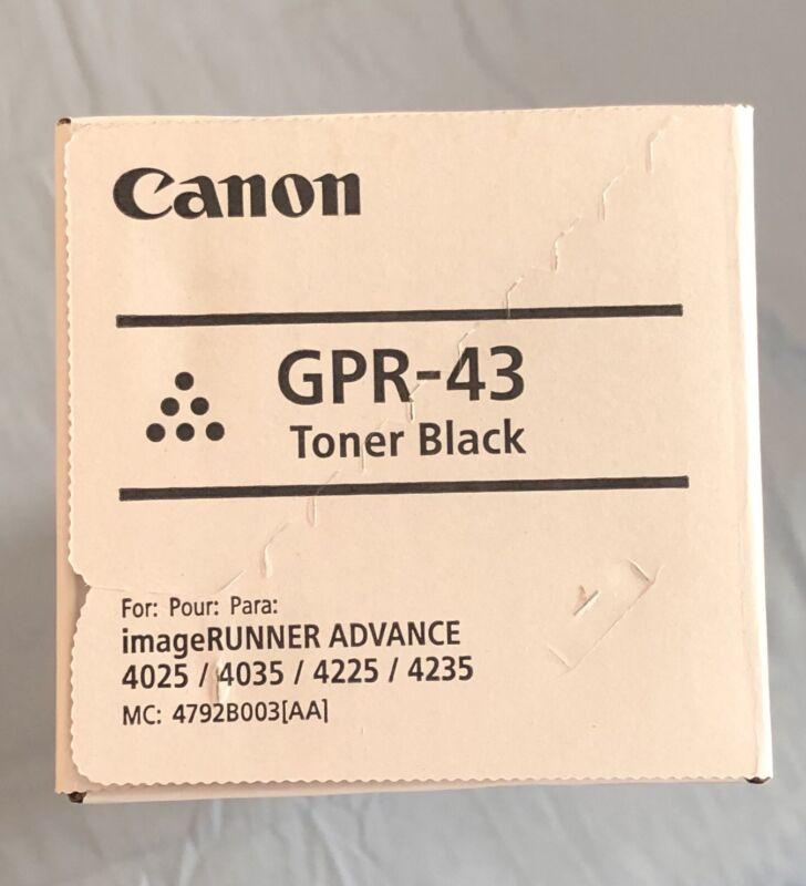NEW GENUINE CANON GPR-43 TONER 4792B003AA FACTORY SEALED.