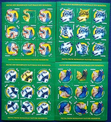 Rumänien 2011 Mi. 6542-45 Kleinbogen ** MNH Tiere Animals Fauna Mi. 115, -- €