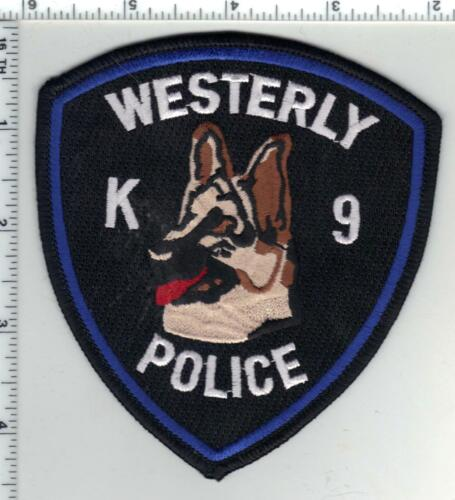 Westerly Police (Rhode Island) 1st Issue K-9 Shoulder Patch