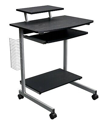 Computer Table Desk Mobile Rolling Cart Office Storage Student Home Study New