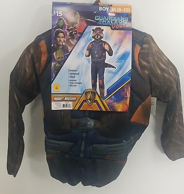 Halloween Costume Marvel Guardians of the Galaxy Rocket Raccoon Boy M (8-10) GE