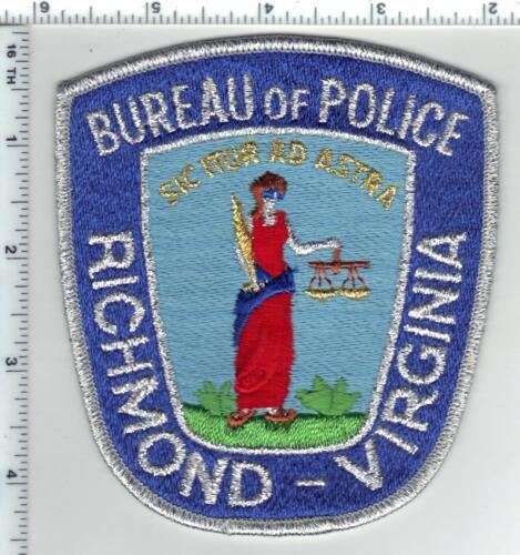 Richmond Bureau of Police (Virginia) SIlver Bullion Blue Shoulder Patch