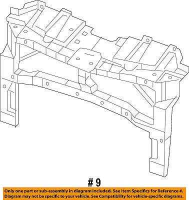 CHRYSLER OEM 15-17 200 Radiator Support-Support Bracket 68376692AA