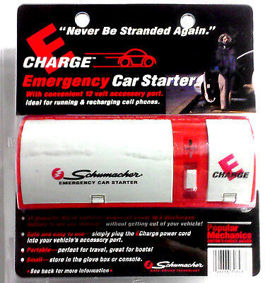 Schumacher E-Charge Emergency Car Starter w/12v Accessory Port EC-1300 *New*