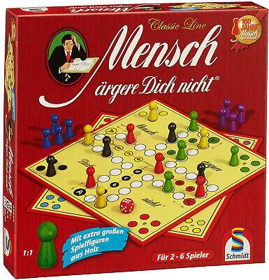 Schmidt Spiele 49330 Classic Line Mensch ärgere Dich Nicht Große Spielfiguren (Glücksspiele)