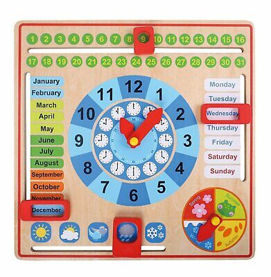 My First Calendar - All About Today Wooden Board Toy, Kids C