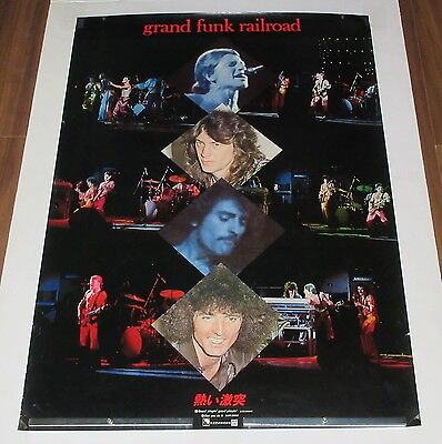 GRAND FUNK RAILROAD original JAPAN PROMO ONLY 1976  POSTER Mark Farner GRF rare!