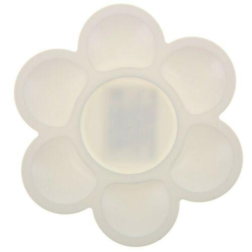 5 inch Flower Shaped Plastic Paints Palette