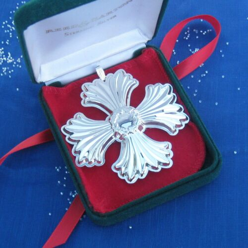 NEW • Reed & Barton 1996 CHRISTMAS CROSS Sterling Silver Ornament 26th Edition