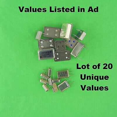 Crystals Crystal Clock Oscillator Dips Lot Of 20 Unique Values Oem Approved
