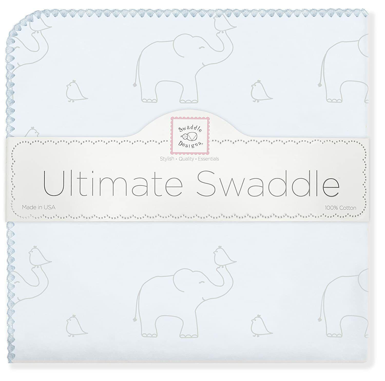SwaddleDesigns Ultimate Swaddle Blanket - Sterling Deco Elep