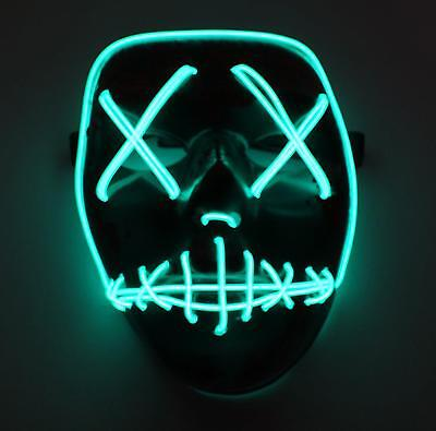 LED Light Up Mask Festival Halloween Christmas New Year Party One Size New UK