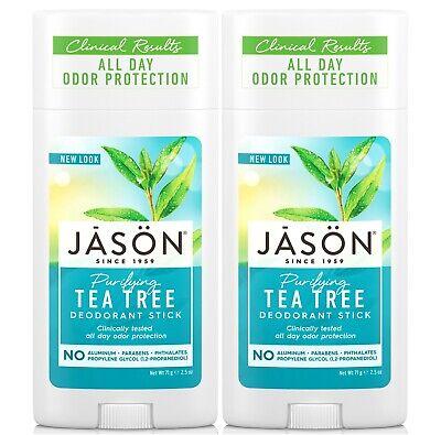 JASON Tea Tree Desodorante en Barra 75g (Pack De 2)